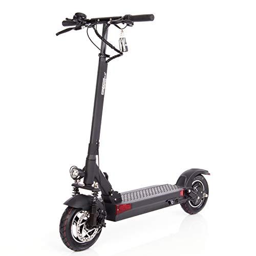 Wizzard Elektro City Scooter 2.5 Plus - 500 W Motor - 100 Km Reichweite - 40 Km/h - (Schwarz mit Sitz)