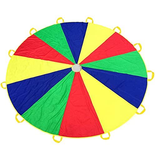 Everfunny 3,5m Abspielen Fallschirm, Kinder 210T Regenbogen Abspielen Fallschirm Parachutes12 Fuß mit 12...