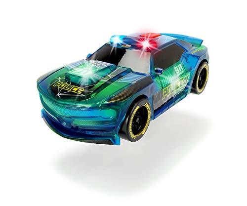 Dickie Toys Lightstreak Police, leuchtendes Polizeiauto, Rennauto mit Friktionsantrieb, Licht &...