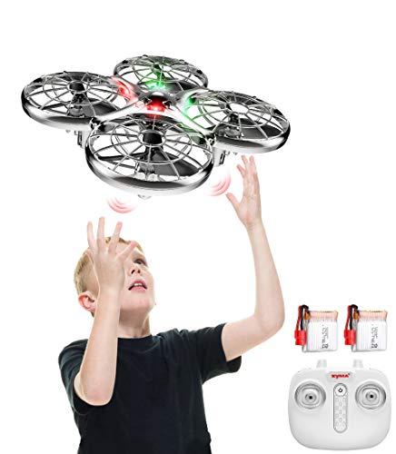 Handbetriebene Drohne 2 Akkus Infrarot UFO Kollisionssicherer X100 2,4 GHz RC-Quadrocopter,Höhe Halten,...