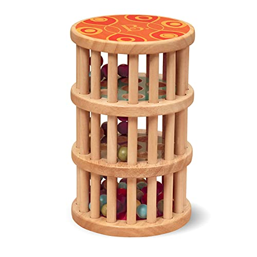B. toys by Battat BX1170Z B. toys Baby Spielzeug Regenmacher mit Holzperlen – Holzspielzeug,...