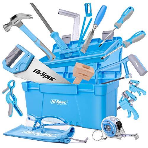 Hi-Spec 25-teiliges Werkzeugset für Anfänger mit Werkzeugkasten, Holzschnitzwerkzeug, Holzmeißel und...