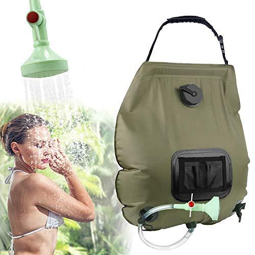 KIPIDA Solardusche Outdoor, 20L Campingdusche Solar Wassersack Heizung Camping Dusche Tasche mit...