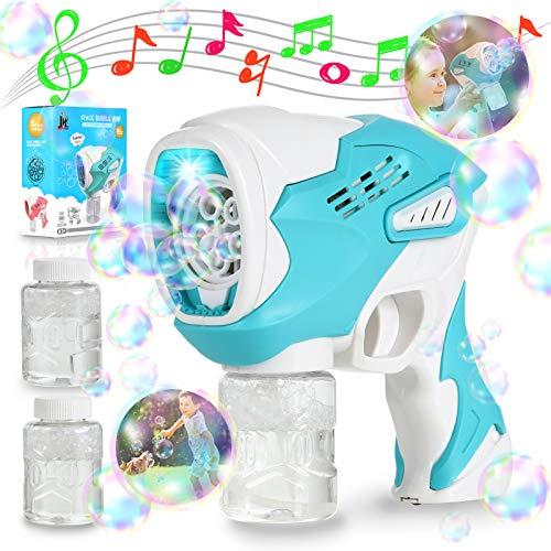 2021Aktualisiert Seifenblasenmaschine Raumkapsel, Automatisch Seifenblasen Pistole Spielzeug für Kinder...