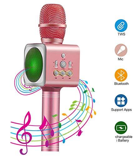 Bluetooth Karaoke Mikrofon Xpassion tragbare drahtlose dynamisches Mikrofon&Lautsprecher, Ideal für...