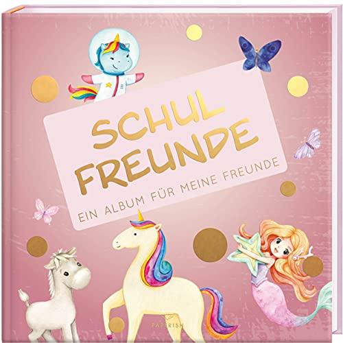 Schulfreunde - MÄDCHEN: ein Album für meine Freunde, Geschenk für Schultüte Einschulung, Schulanfang...