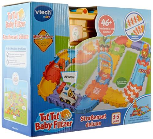 Vtech 80-524404 Tut Tut Baby Flitzer - Straßenset deluxe, Babyautos, Mehrfarbig