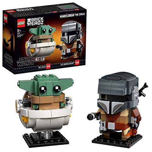 LEGO 75317 BrickHeadz Star Wars – Der Mandalorianer und das Kind, Baby Yoda, Bauset (295 Teile)