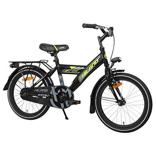 Hiland Kinderfahrrad für Jungen Mädchen 3-9 Jahre Alt Space Shuttle 18 Zoll Fahrrad mit Ständer...