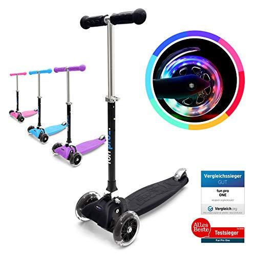Kinder Scooter Kinderroller Cityroller Tretroller Klappbar Kickboard 4 LED Räder