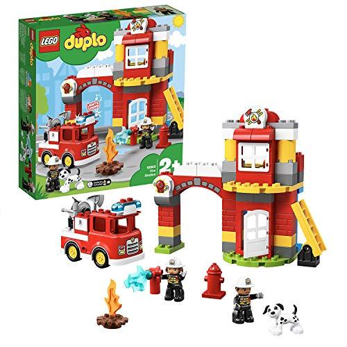 LEGO 10903 DUPLO - Feuerwehrwache mit Feuerwehrauto und 2 Feuerwehrfiguren