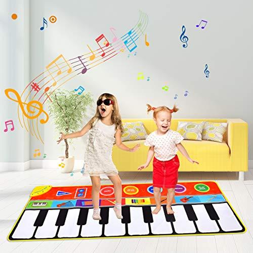 Miavogo Musikmatte für Kinder, Tanzmatte Piano Mat 8 Einstellbare Lautstärke + 8 Instrumenten + 10...