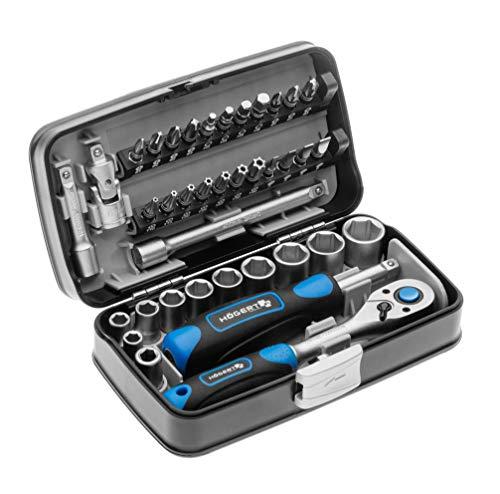Högert Werkzeugset Werkzeugkoffer – Werkzeugsatz Werkzeug Tools Steckschlüsselsatz Schraubendreher...