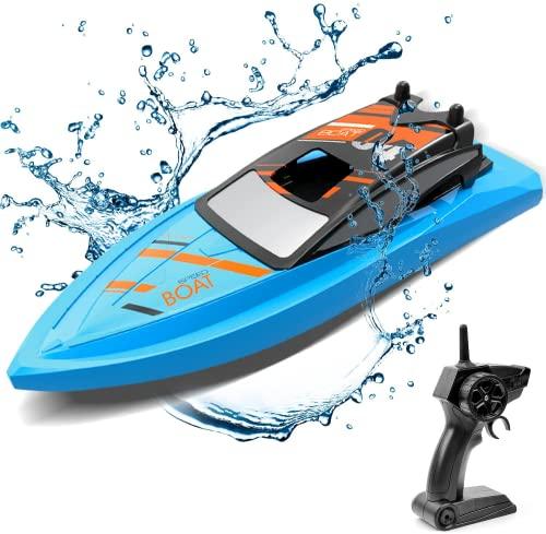 GizmoVine Ferngesteuertes Boot für Pools und Seen, 2.4 GHz RC Boot Outdoor Adventure Elektro-Rennboote...