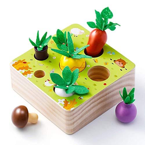 Babyhelen Holzspielzeug, Baby Motorik Spielzeug für Jungen und Mädchen, Happy Farm Montessori Spielzeug...