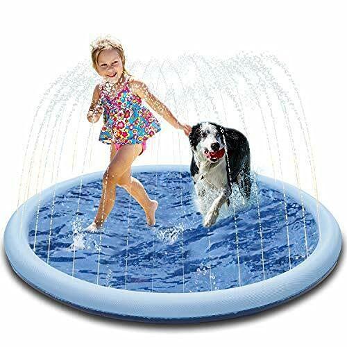 Drtopey Splash Pad, Spielzeug Sprinkler Play Matte Hundepools , Rutschfestes Material verdicken 150cm...