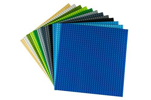 """Strictly Briks Stapelbare Premium-Bauplatten - kompatibel mit Allen führenden Marken - 10 x 10"""" (25,4..."""