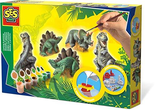SES creative SES Gießen und anmalen Dinos Gips-& Mal-Set, Multi