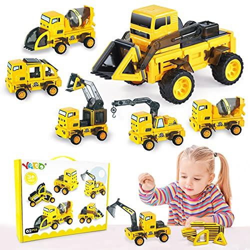 YARD Magnetische Bausteine 62 Pcs Magnet Spielzeug Kinder Konstruktionsspielzeug ab Kinder, 6-in-1 STEM...