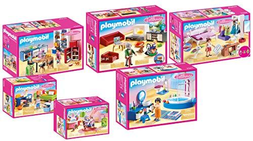 PLAYMOBIL 6-teiliges Möbelset für 70205 Puppenhaus oder auch für 9266 Modernes Wohnaus: 70206 70207...