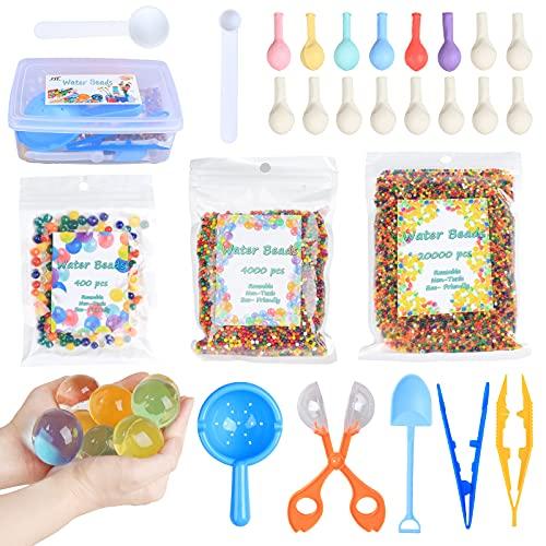 HTDZSW Wasserperlen - als Kind Geschenkbox - 14 Farben, Wiederverwendbar, Wasserperlen für Kinder...