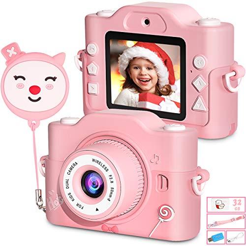 ZumYu Kinderkamera, Digital Kinder Fotokamera und Videokamera mit Dual Lens/ 2 Inch Bildschirm/ 1080P HD/...