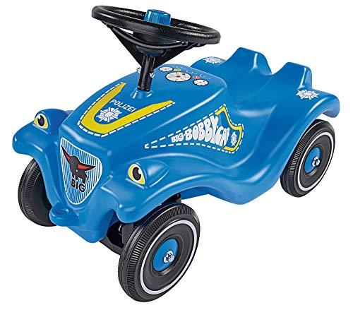 BIG-Bobby-Car Classic Police - Kinderfahrzeug mit Aufklebern im Polizei Design für Jungen und Mädchen,...