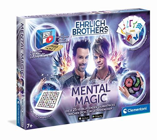 Clementoni 59182 Ehrlich Brothers Mental Magic, Zauberkasten für Kinder ab 7 Jahren, magische Anleitung...