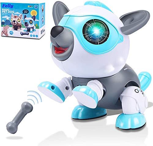 Felly Roboter Hund für Kinder, Intelligentes Roboter Hundespielzeug Spielzeug ab 3 4 5 6 7 8 Jahre...