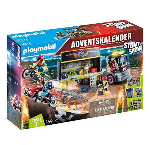 PLAYMOBIL XXL-Adventskalender 70544 Stuntshow, Inklusive LKW, Für Kinder ab 4 Jahren