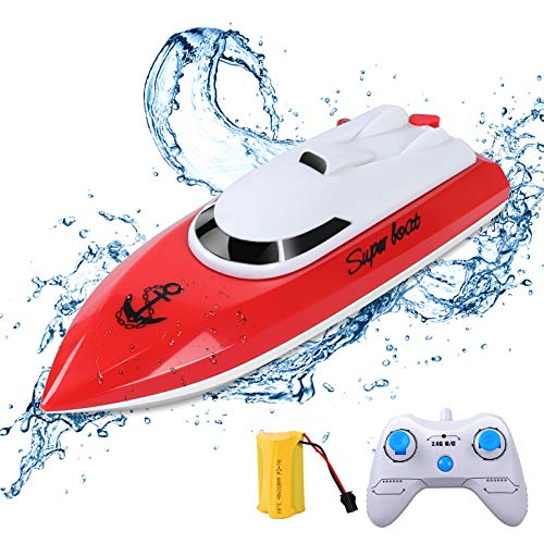 ERollDeep RC-Boot, Ferngesteuertes Boot für Schwimmbäder und Seen 2,4 GHz 10KM/H...