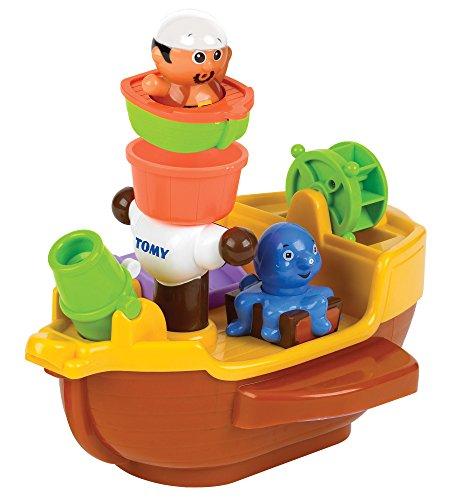 TOMY E71602 Spielzeug Schiff Piratenschiff Mehrfarbig, Hochwertiges Kleinkindspielzeug, Piratenschiff...