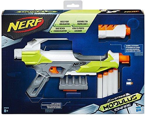 Hasbro Nerf N-Strike Elite Modulus Ion-Fire, Spielzeugblaster mit Laufverlängerung und Dart-Halterung,...