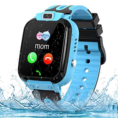 Smartwatch Kinder Phone Tracker Smartwatch für Kinder Uhr Smart Watch mit LBS SOS Voice Chat Anruf und...