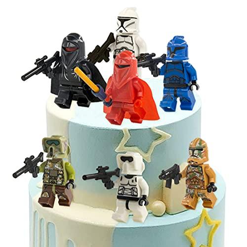 Cake Topper Star Wars, 7pcs Star Wars Mini Figuren Tortendeko, Tortenfiguren, Geburtstags Party liefert...