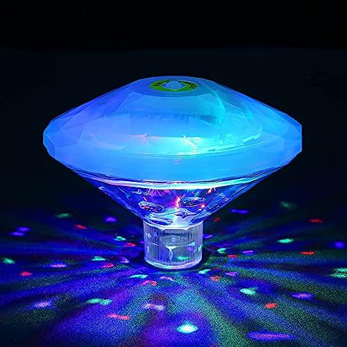 Sinvitron Poolbeleuchtung Unterwasser Led, Badewannen licht, Wasserdicht RGB-Poollichter mit 7 modi für...