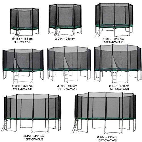 Baunsal GmbH & Co.KG Gartentrampolin Kindertrampolin Trampolin 244 bis 250 cm grün komplettes Set mit...