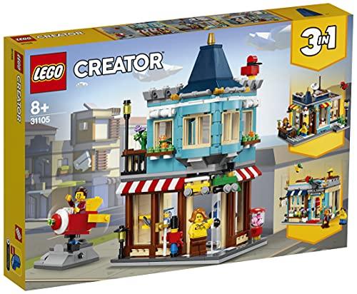 Lego 31105 Creator 3-in-1 Spielzeugladen im Stadthaus - Konditorei - Blumenladen Bauset, mit...