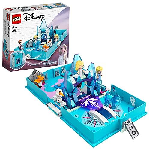 LEGO 43189 Disney Princess Frozen 2 Elsas Märchenbuch, tragbares Spielset, Reisespielzeug für Kinder,...