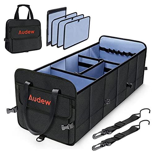 Audew Kofferraum Organizer 75L 1680D Auto Kofferraumtasche mit Befestigungsgurte, Aufbewahrungstasche...