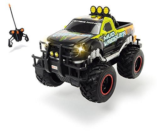 Dickie Toys - RC Ford F150 Mud Wrestler, Ferngesteuertes Auto für drinnen und draußen, 10 km/h, XL...