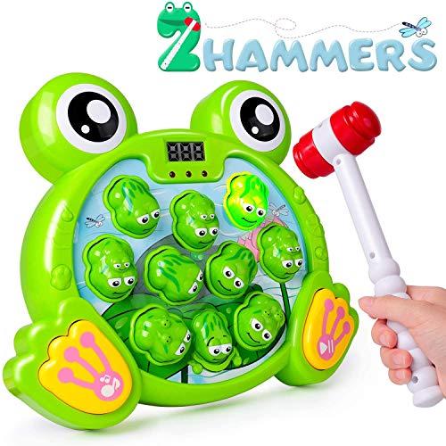 Rolimate Interaktives Spiel Hammerspiel Spielzeug, Whack A Frog Feinmotorik, Entwicklung Pädagogisches...
