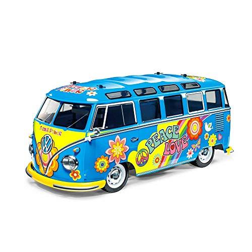 TAMIYA 47453 1:10 VW Bus Type2 T1 Flower Lack, ferngesteuertes Auto, RC Fahrzeug, Modellbau, Bausatz zum...