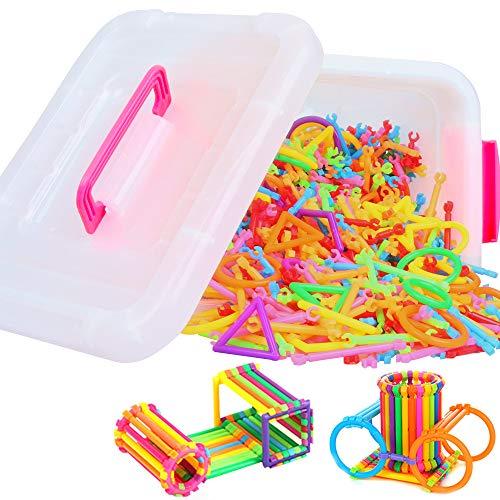 Bausteine Steckbausteine Spielzeug, ZoneYan 1000pcs Kreativer Baustein Stick, Steckbausteine Kunststoff,...