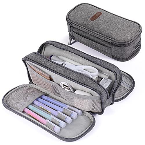 Federmäppchen 3fach Schulmäppchen Große Aufbewahrung Farbe Bleistift Tasche Wasserdicht Tragbar für...