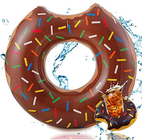 TK Gruppe Timo Klingler Aufblasbar Donut braun Ø 120 cm mit Biss Schwimmring Schwimmreifen Pool &...