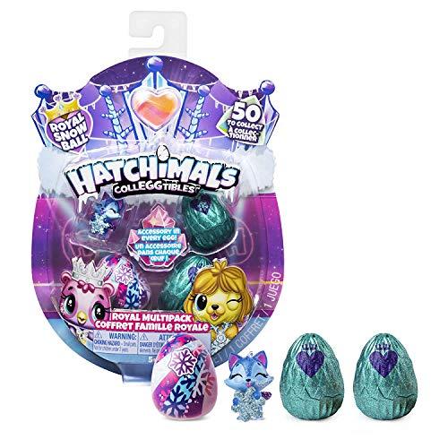 Hatchimals 6047212 - CollEGGtibles Royal Multipack mit 4 Hatchimals und Zubehörteilen, 2 Design -...