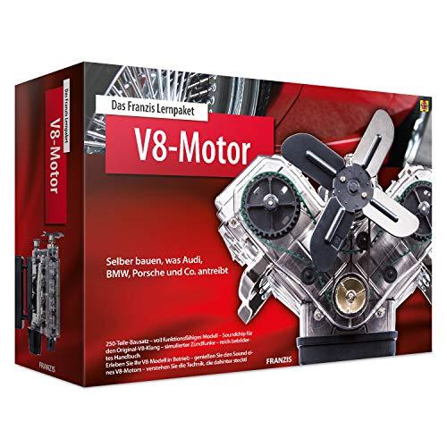 Das FRANZIS Lernpaket V8-Motor: Selber bauen, was Audi, BMW, Porsche und Co. antreibt | 250-Teile-Bausatz...
