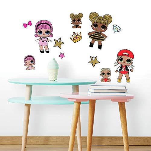 L.O.L. Surprise RoomMates Lol Surprise! RMK3888SCS Wandaufkleber, zum Abziehen und Aufkleben, Pink,...