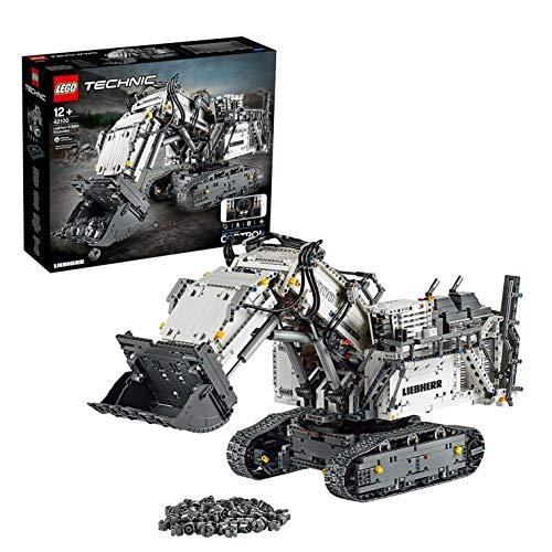 LEGO 42100 Technic Liebherr Bagger R 9800, App-gesteuertes Konstruktionsspielzeug für Fortgeschrittene...